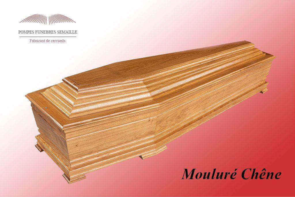 Cercueil Mouluré Chêne