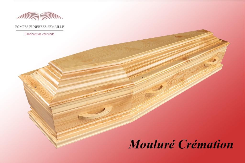 Cercueil Mouluré Crémation