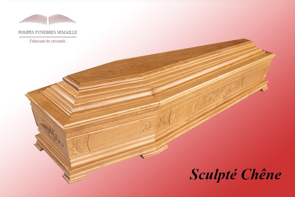 Cercueil Sculpté Chêne