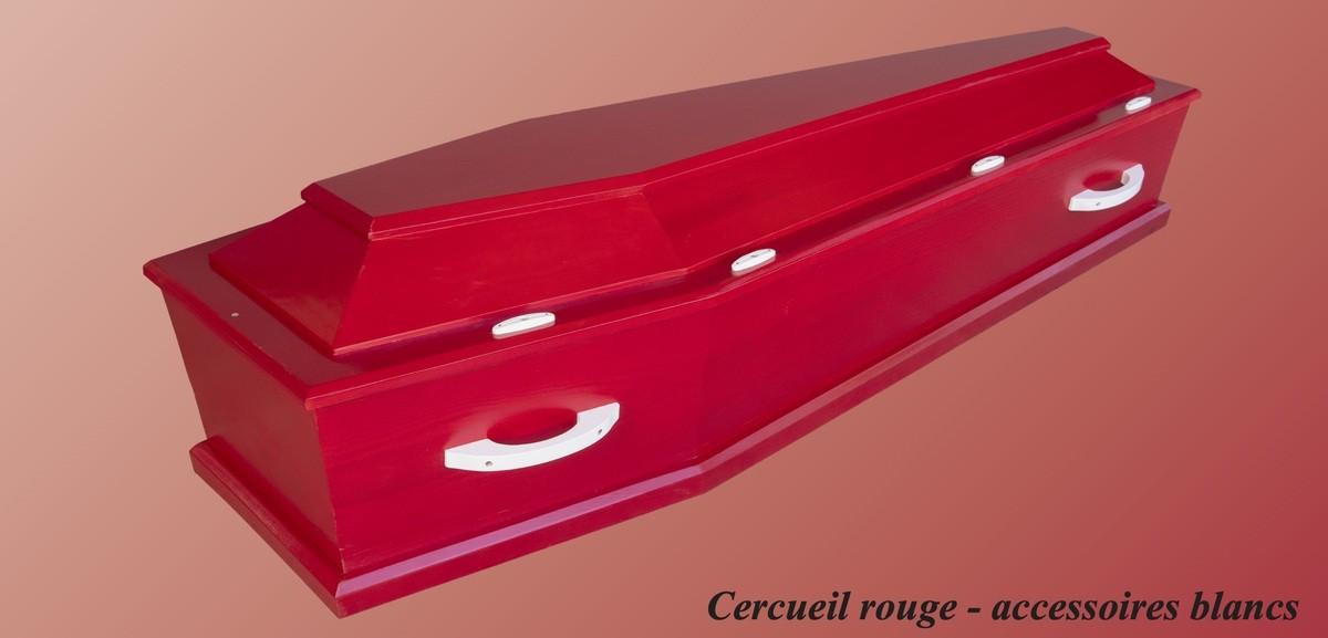 Cercueil Rouge - accessoires blanc