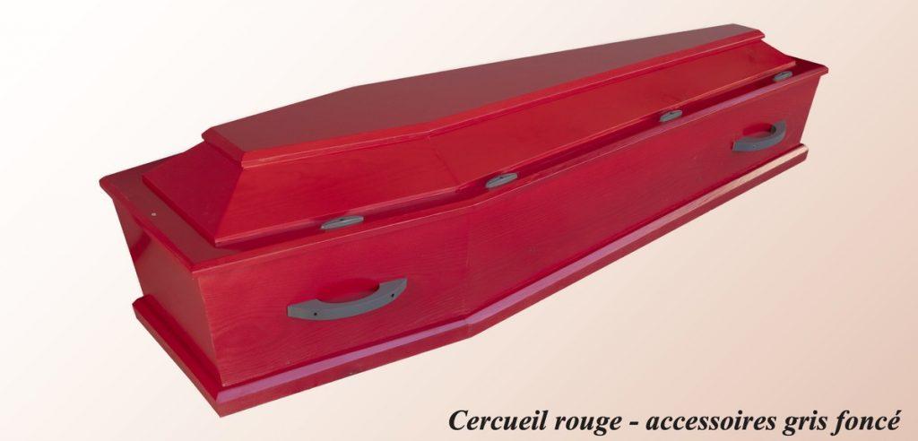 Cercueil Rouge - accessoires gris foncé